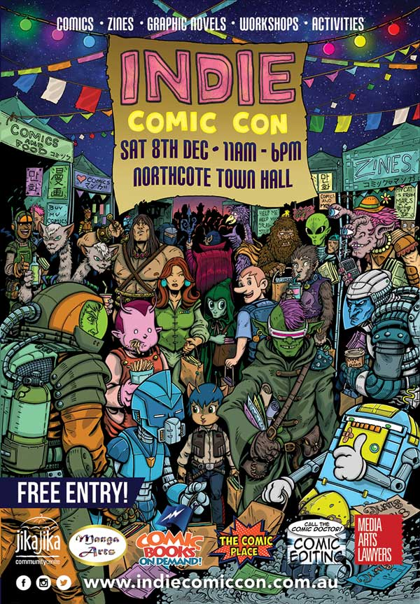 Indie Comic Con Official Poster 2018